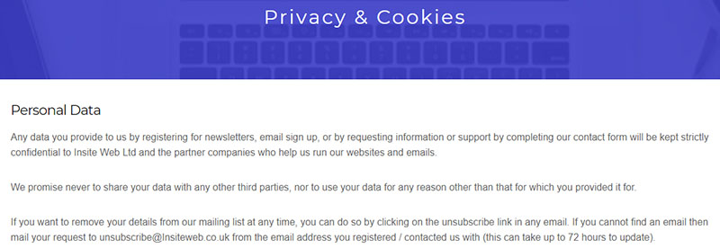 gdpr data protection privacy and cookies