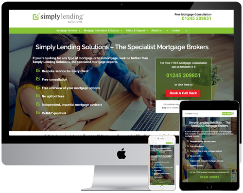 Simply Lending Solutions Web, PPC and SEO Project